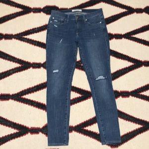 Gap true skinny 27R jeans distressed